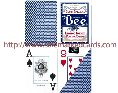 Jumbo Index Bee Marked Cards