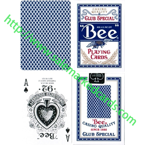 Standard Index Bee Marked Cards Blue Decks