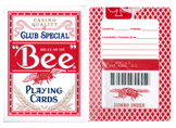 Bee Marked Cards With Bee On The Back